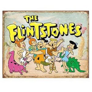 Desperate Enterprises . DPE FLINTSTONES TIN SIGN