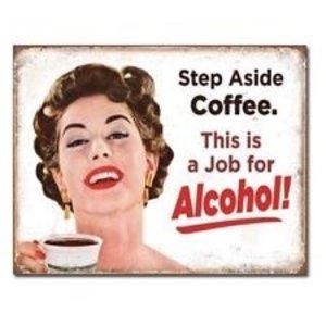 Desperate Enterprises . DPE STEP ASIDE COFFEE SIGN