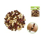 MultiCraft . MCI Wood Round Beads - Natural Medley