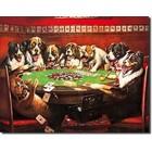 Desperate Enterprises . DPE 8 Drunken Dogs Playing Cards - Rectangular Tin Sign