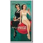 Desperate Enterprises . DPE 1886-1936 Drink Coca-Cola 50th Anniversary - Rectangular Tin Sign