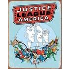 Desperate Enterprises . DPE Justice League Of America Tin Sign