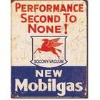 Desperate Enterprises . DPE Performance Second To None! New Mobilgas - Rectangular Tin Sign