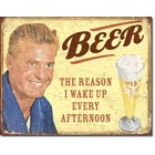 Desperate Enterprises . DPE Beer The Reason I Wake Up Every Afternoon - Rectangular Tin Sign