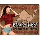 Desperate Enterprises . DPE Hazzard County's Own Boars Nest World's Best Tastin' Barb-B-Que Tin Sign