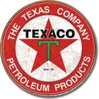 Desperate Enterprises . DPE The Texas Company Petroleum Products, Texaco - Round Tin Sign