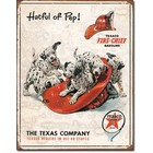 Desperate Enterprises . DPE Hatful of Pep! Texaco Fire-Chief Gasoline, The Texas Company, Texaco Dealers in All 48 States - Rectangular Tin Sign