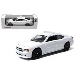 Green Light Collectibles . GNL 1/64 12 DOD CHRGR POLICE-WHT