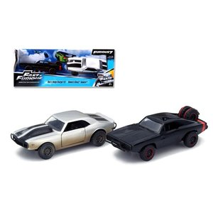 Green Light Collectibles . GNL 1/32 F&F TWIN PACK DOMS CHARGER ROMANS CAMARO