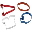 Wilton Products . WIL Metal Cookie Cutter Set - Football Theme