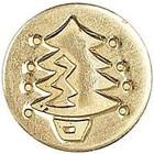 Manscript . MAN CHRISTMAS SEAL COIN