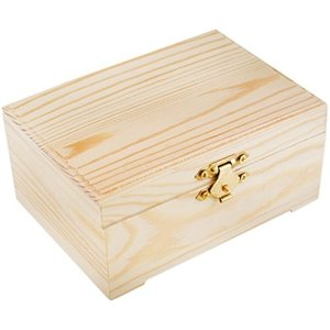 "MultiCraft . MCI 6.31""x5.12""x1.5"" Keepsake/Jewelry Box"