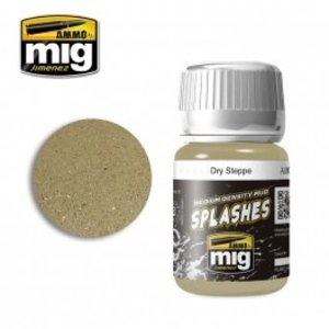 Ammo of MIG . MGA Mud Splashes Dry Steppe