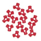 Darice . DAR Tri Beads - Opaque Red 480Pc