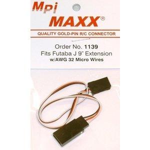 Maxx Products . MPI FUTABA J 9'' EXTENSION MICRO W