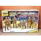 Zvezda Models . ZVE 1/35 WWII SOVIET ARTILLERY CREW