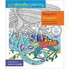 One Time . ONE MAJESTIC DRAGONS ZENDOODLE COLORING BOOK