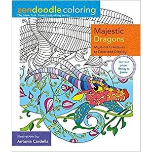 One Time One Majestic Dragons Zendoodle Coloring Book Pm Hobbycraft