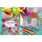 One Time . ONE FLOWER POWER COLORING BOOK
