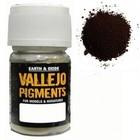 Vallejo Paints . VLJ BURNT UMBER PIGMENT 30ML