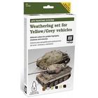 Vallejo Paints . VLJ YELLOW/GREY AFV WEATHERING Set