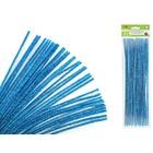 MultiCraft . MCI Chenille Stems - Glitter Peacock Blue