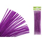 MultiCraft . MCI Chenille Stems - Glitter Purple