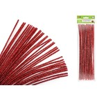 MultiCraft . MCI Chenille Stems - Glitter Ruby