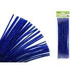 MultiCraft . MCI Chenille Stems - Glitter Royal Blue