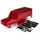Traxxas Corp . TRA Traxxas Body, Land Rover Defender, red (painted)/ decals