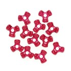 Darice . DAR Tri Beads - Ruby Red