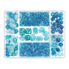Darice . DAR Jewelry Designer Glass Bead Box Assortment - Turquoise
