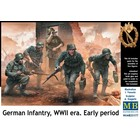 Masterbox Models . MTB 1/35 German Infantry on the Move Under Fire WWII Era Early (5)