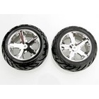 Traxxas Corp . TRA Chrome All-Star Wheels Anaconda Tires