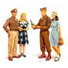 Masterbox Models . MTB 1/35 WWII POST WAR CELEBRATION