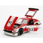 """Jada Toys . JAD JDM Tuners Metals Die Cast"""" 1/24 1972 Datsun 240Z - 7527C White and Gloss Red"""