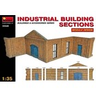 Miniart . MNA 1/35 Industrial Brick Type Building Sections Module Design