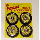 Pegasus Hobbies . PGH 1/24-1/25 VIN CHRM RIMS W/TIRE