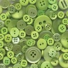 Buttons Galore . BUT SPRING GRN 1/2lb BUTTONS REUSE