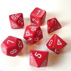 Chessex . CHX Chessex Opaque 7pc Red/White