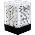 Chessex . CHX Chessex Opaque: 36D6 White / Black