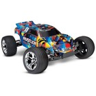 Traxxas Corp . TRA Traxxas Rustler 1/10 RTR Stadium Truck Rock and Roll
