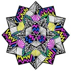 Stuff To Color . SFC Velvet Mandala Zig Zag Die Cut
