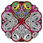 Stuff To Color . SFC Velvet Die Cut Heart Mandala