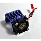APS Racing . APS ALU MOTOR HEAT SINK W/FAN BLUE