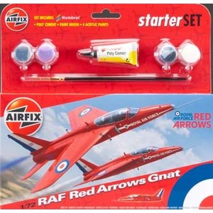 Airfix . ARX 1/72 Red Arrow Gnat Starter Set