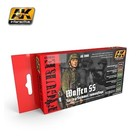 AK INTERACTIVE WAFFEN SS SPRING/SUMMER CAMO PAINT SET