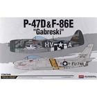 Academy Models . ACY 1/72 P-47D/F-84E GABRESKI