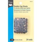 Dritz . DRZ Double-Cap Rivets 8Mm Cap X 6Mm Post Copper
