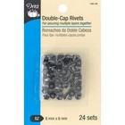 Dritz . DRZ Double-Cap Rivets 8Mm Cap X 6Mm Post Gunmetal